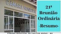 21ª Reunião Ordinária da Câmara Municipal 2019