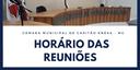Horário das Reuniões Ordinárias da Câmara Municipal