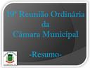 Resumo da 19ª Reunião Ordinária da Câmara Municipal